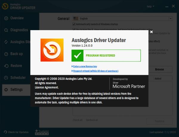 Auslogics Driver Updater License Key 2020